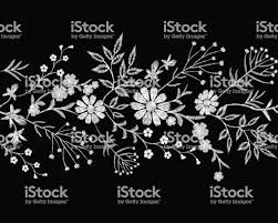 Embroidery White Lace Border Small Branches Herb Leaf With Little