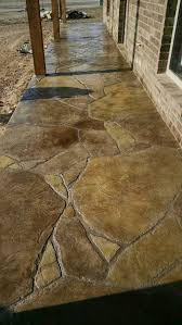 Concrete Stain Designs Stamped And Stained Concrete Patio In Flagstone Concrete