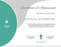 Templates For Certificates Editable Certificate Template Postermywall
