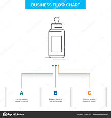 Infant Milk Chart Feeder Bottle Child Baby Milk Business Flow Chart Design