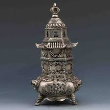 <b>Exquisite Chinese</b> Miao Silver Copper Handwork-Carved <b>Pagoda</b> ...