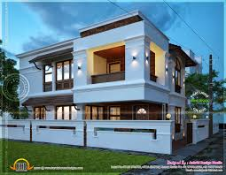 Small Picture March Kerala Home Design And Floor Plans House View Night idolza