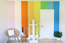 diy wall paint ideas. diy rainbow wall with chalk paint! see more on abeautifulmess.com diy paint ideas