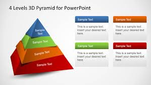 Ppt Pyramid 4 Levels 3d Pyramid Template For Powerpoint