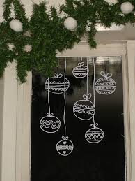 appealing window christmas decorations applying ornaments draw on