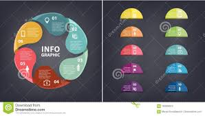 Chart Paper Presentation Vector Colorful Loop Infographic Template For Diagram