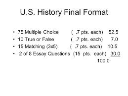 u s history final format ppt  u s history final format