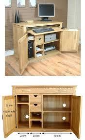 oak office table. mobel oak hidden home office desk table