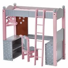 doll bunk bed american girl 18 inch dolls furniture desk mattress ladder new