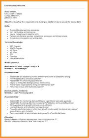 10 11 Loan Processor Resume Examples Southbeachcafesf Com