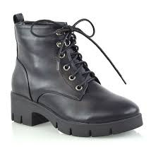 womens synthetic leather platform las
