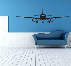 airplane wall decals black airplane wall art mural decor sticker boys kids room wallpaper decal poster airplane wall decals