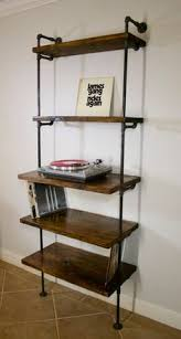 record storage furniture. industrial vinyl record storage shelf unit modern bookcase with turntable stand shelving furniture lp shelves