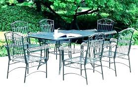 wrought iron patio furniture cast outdoor table for white w