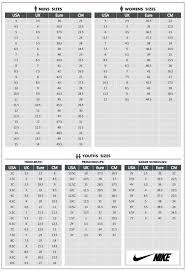 Nike Com Shoe Size Chart Size Chart Perfect Stuffs
