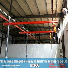 Monorail Crane Beam Design Hot Item Mingdao Crane Brand Free Standing Electric Monorail Overhead Crane