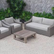 the wave rattan sofa set coffee table