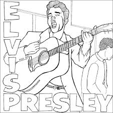 Small Picture Elvis Coloring Pages at Coloring Book Online