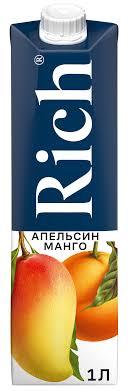 <b>Rich нектар</b> Апельсин-Манго, 1 л — купить в интернет-магазине ...