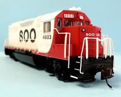 HO Scale Model Railroad Trains Engine Soo Line GP-40 Locomotive DCC ...