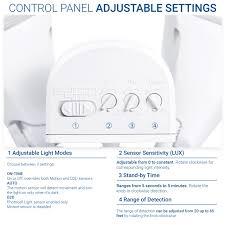 Sensor Light Lux Setting Pro Outdoor Security Light Flood Light Fixture With Wide Range Motion Sensor Photocell Waterproof