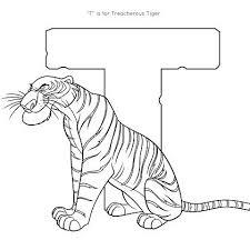 La T Sta Per Tigre Disegni Da Colorare Giochi Didattici Disegni Da
