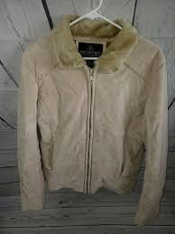 oscar piel perfect leather jacket women s tan size medium zip up