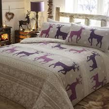helsinki thermal flannelette duvet cover set plum purple hover to zoom