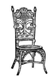 chair clipart black and white. vintage chair clipart, old fashioned parlor chair, antique image, black and white clip art, printable furniture graphics clipart