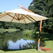 levante bamboo cantilever umbrella from bambrella