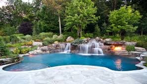 swimming pool backyard. Beautiful Backyard Backyard Swimming Pool Waterfall Design Bergen County NJ Contemporarypools Andhot With N