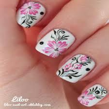 Flower Design On Nails