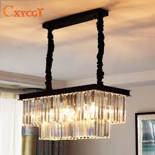 best american country crystal chandelier dining room creative rectangular crystal pendant lamp led lighting rh
