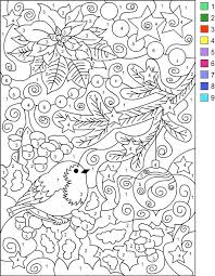 Christmas Color By Number Printables Holiday Coloring Pages