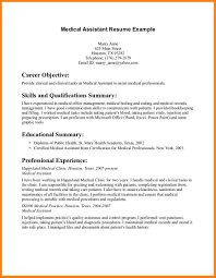 Gallery Of Medical Assistant Sample Resume Resumes Healthcare