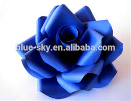 Hanging Paper Flower Backdrop Blue Rose Flower Marriage Decoration Paper Flower Wall Backdrop