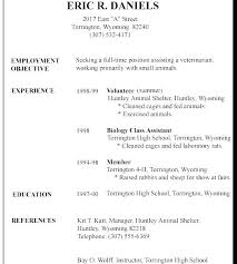 Job Resume Template For High School Student Resume Letter Collection
