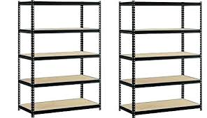 deep storage shelves heavy duty garage shelf steel metal 5 level adjule unit 12 inch storag