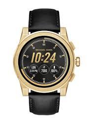 michael kors grayson leather watch strap