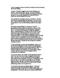 poem essay gcse sample gcse english literature poetry essay teaching