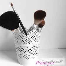 plant pot to makeup brushes my favourite makeup brush holder is the plant pot especially this one i got from ikea it is well made es in so many