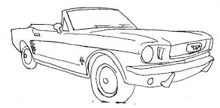 Ford Mustang Convertible Embroidery Cross Stitch Tattoo Outline