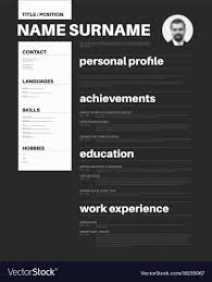 Black And White Cv Resume Template With Nice