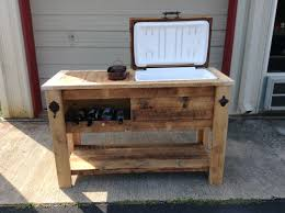 outdoor wood table with cooler patio cooler plans home design fancy with ideas uptodate