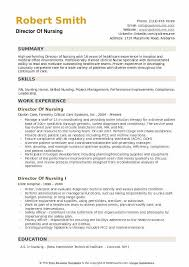 Nursin Resume Director Of Nursing Resume Samples Qwikresume