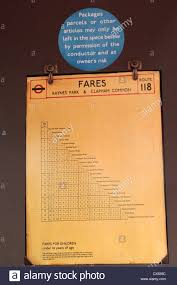 Uk Aerodrome Charts Fare Chart On A 1934 Aec Regent 1 Stl441 London Bus At