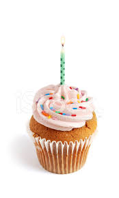 Cupcake With Candle Stock Photos Freeimagescom