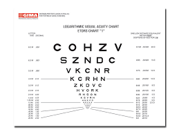 20 20 Vision Chart Logmar Sloan Near Vision Chart 40 Cm 18x23 Cm