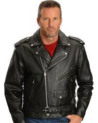 interstate leather motorcycle jacket black hi res