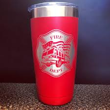fire department 20oz tumbler beer stein fireman gift fireman gifts firefighter gift firefighter gifts flames beer stein firefighter retirement